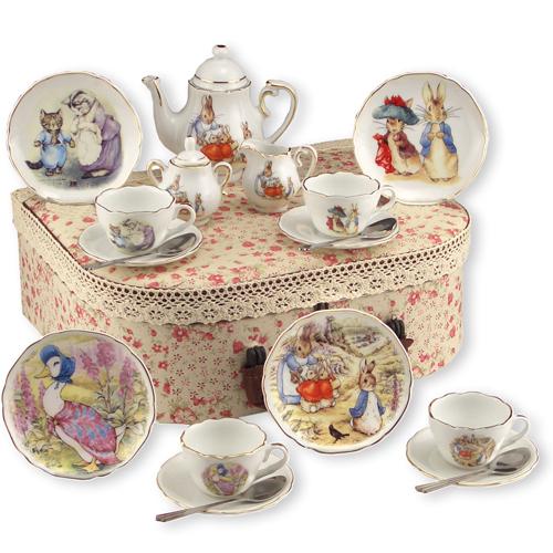 Beatrix Potter Porcelain Tea Set In Case Mary Arnold Toys