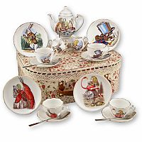 Alice in Wonderland Porcelain Tea Set and Case