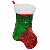 RED & GREEN STOCKING PILLOW