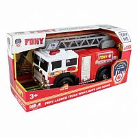 "Fire Department City of New York 27"" Large Arial Ladder Truck w/ Light & Sound"