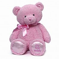 My First Teddy Bear Stuffed Animal Pink 18'