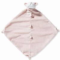Pink Bulldog Lovie Blanket
