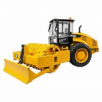 CAT Vibratory soil compactor with leveling blade