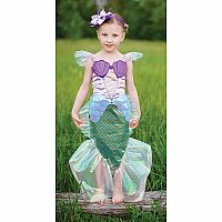 Blue Mermaid Dress + Headband Size 5-6