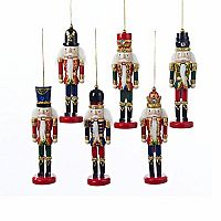 6 Wooden Nutcracker Ornaments 6""