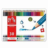 Caran d'Ache Fancolor Color Pencils, 30 Colors