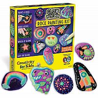 Glow In The Dark Rock Painting Kit - Paint 10 Rocks with Water Resistant Glow Paint