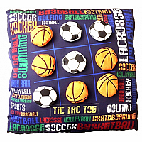 Sports Graffiti Tic Tac Toe Pillow