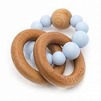 Bubble Silicone and Wooden Teether