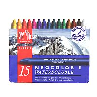 Caran d'Ache Classic Neocolor II Water-Soluble Pastels, 15 Colors