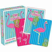 Pink Flamingo Playing Cards