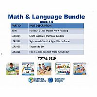 Math & Language Bundle Age 4+