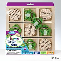 Passover Tic-Tac-Toad Wood Game