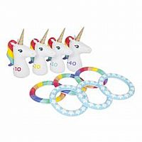 Unicorn Inflatable Ring Toss Set