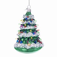 Christmas Tree Glass Ornament