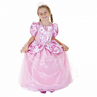 Royal Pretty Pink Princess Dress 7-8
