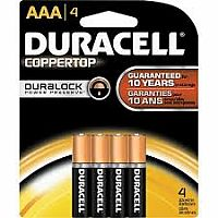Duracell AAA 4 pack Batteries