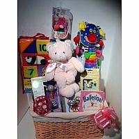 Baby Girl Basket $200