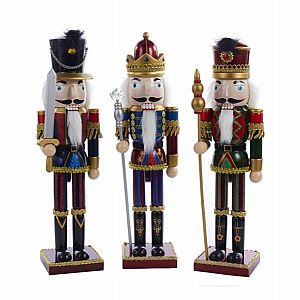 "15"" Wooden Nutcracker With Striped Pants"