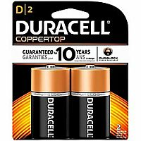 Duracell D Batteries 2 pack
