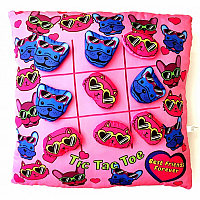 Cats and Dogs Tic Tac Toe Pillow