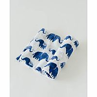 Indie Elephant Cotton Muslin Swaddle Single