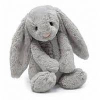 Large Bashful Grey Bunny