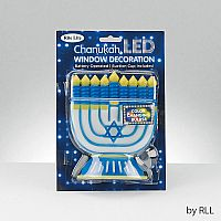Chanukah LED Window Decoration with Color Changing Bulb