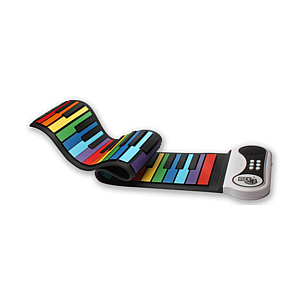 Roll Up Piano Rainbow Style
