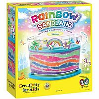 Rainbow Sandland Sand Art Activity