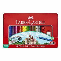 48 Classic Color Pencil Sketch Set