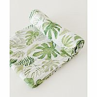 Tropical Leaf Cotton Muslin Swaddle Single