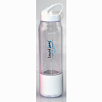 LiquidJams Bluetooth Speaker Water Bottle (WHITE)
