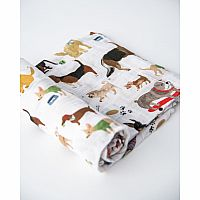 Woof Cotton Muslin Swaddle Single